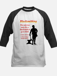 How Blacksmiths Go To Hell Kids Baseball Jersey