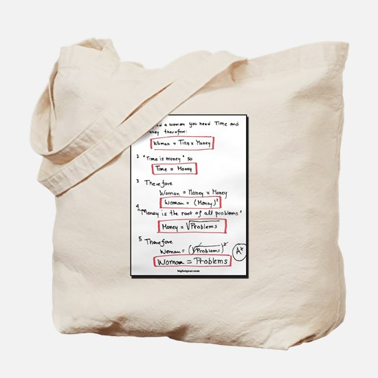 Proof:  Women = Problems? Tote Bag