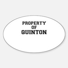Property of QUINTON Decal