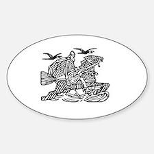 Unique Ravens Sticker (Oval)