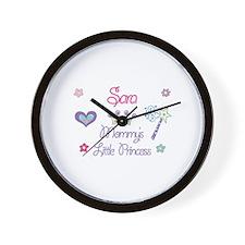 Sara - Mommy's Little Princes Wall Clock