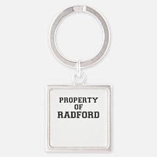 Property of RADFORD Keychains