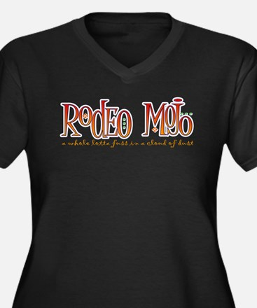Rodeo Mojo Women's Plus Size V-Neck Dark T-Shirt