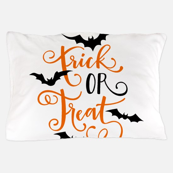 TRICK OR TREAT [bats] Pillow Case