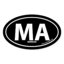 Morocco country bumper sticker -Black (Oval)