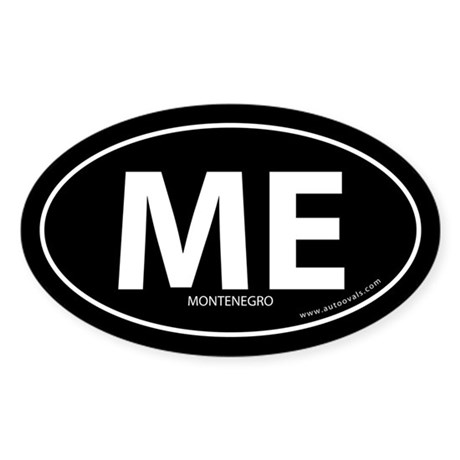 Montenegro country bumper sticker -Black (Oval)