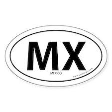 Mexico country bumper sticker -White (Oval)