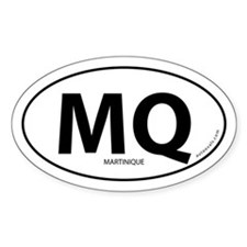 Martinique country bumper sticker -White (Oval)