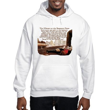 Mouse on the Pub Floor Hooded Sweatshirt