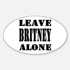 Leave Britney Alone Oval Decal