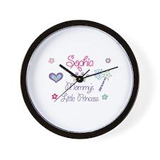 Sophia - Mommy's Little Princ Wall Clock
