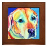 Yellow lab Framed Tiles