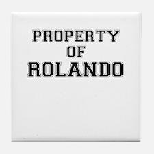 Property of ROLANDO Tile Coaster
