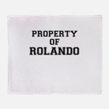 Property of ROLANDO Throw Blanket