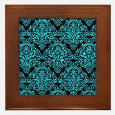 DMS1 BK-TQ MARBLE Framed Tile