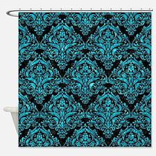 DMS1 BK-TQ MARBLE Shower Curtain