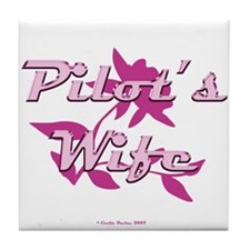 Pilot's Wife Tile Coaster