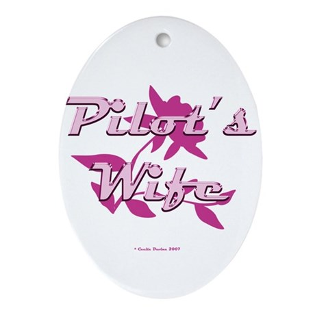 Pilot's Wife Oval Ornament
