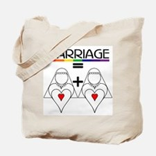 MARRIAGE EQUALS HEART PLUS HE Tote Bag