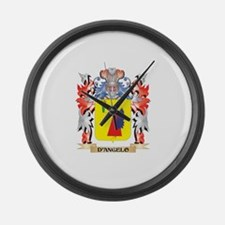 D'Angelo Coat of Arms - Family Cr Large Wall Clock