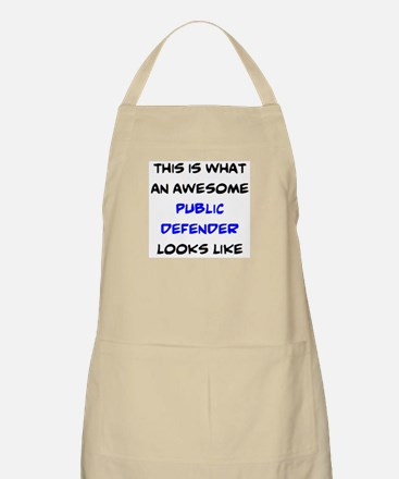 awesome public defender Light Apron