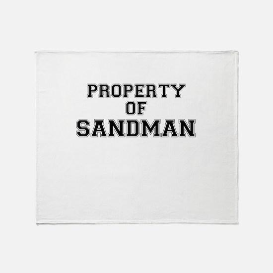 Property of SANDMAN Throw Blanket