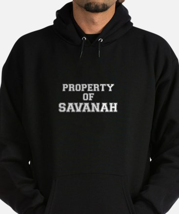 Property of SAVANAH Hoodie (dark)