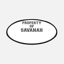 Property of SAVANAH Patch