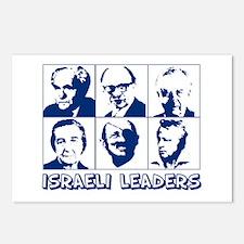 israel leaders Postcards (Package of 8)