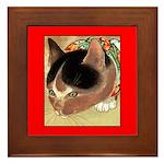 CURIOUS KITTY CAT Framed Tile