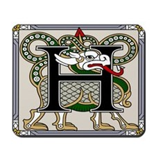 Celtic Dragon Art H Mousepad