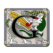 Celtic Dragon Art G Mousepad