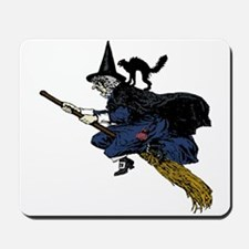 Witch On Broom Clr Mousepad