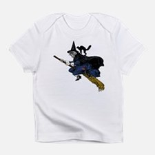 Witch On Broom Clr Infant T-Shirt