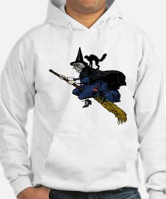 Witch On Broom Clr Hoodie