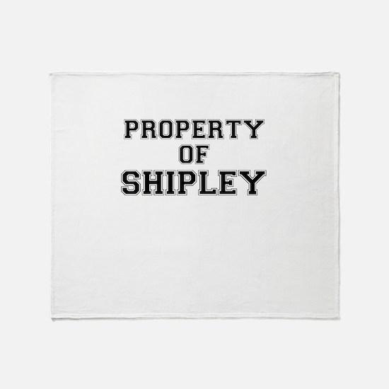 Property of SHIPLEY Throw Blanket