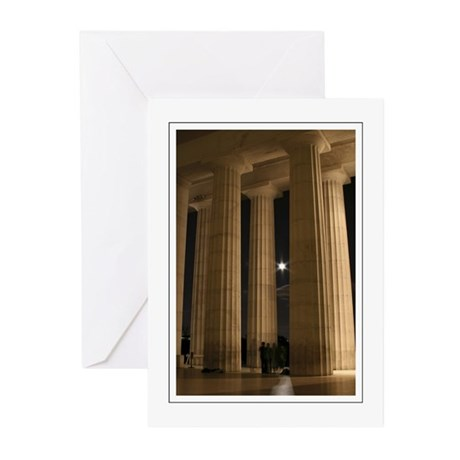 Lincoln Memorial Moon Greeting Cards (Pk of 10)