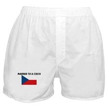 MARRIED TO A CZECH Boxer Shorts