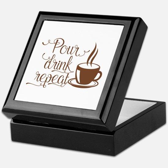 POUR, DRINK, REPEAT Keepsake Box