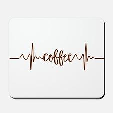 COFFEE HEARTBEAT Mousepad