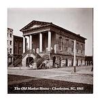 The Old Market House, Charleston SC Tile Coaster