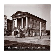 The Old Market House, Charleston SC Tile Coaster