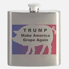 Trump--Make America Grope Again Flask