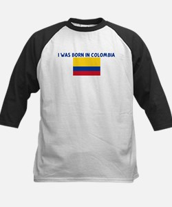 I WAS BORN IN COLOMBIA Kids Baseball Jersey