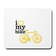 I heart my bike Mousepad