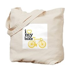 I heart my bike Tote Bag