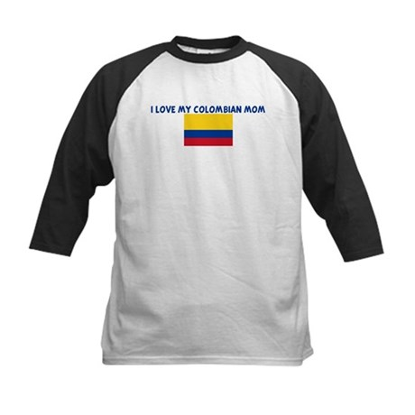 I LOVE MY COLOMBIAN MOM Kids Baseball Jersey