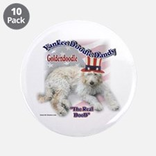 """Yankee Goldendoodle 3.5"""" Button (10 pack)"""