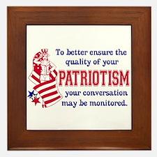 Quality of Patriotism Framed Tile