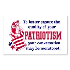 Quality of Patriotism Rectangle Decal